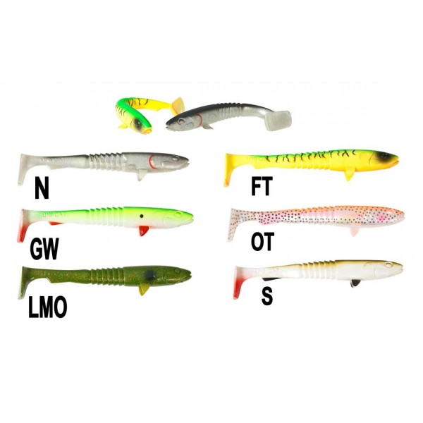 Uni Cat nástraha Goon Fish, 25 cm Vzor LMO, 2ks/bal