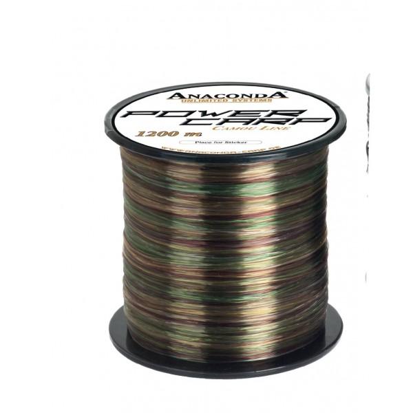 Vlasec Anaconda Power carp camou line 1200m průměr: 0.38 mm