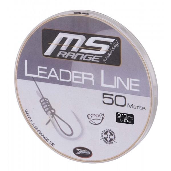 Návazcová šňůra MS Range Leader Line. 50m průměr: 0.12 mm