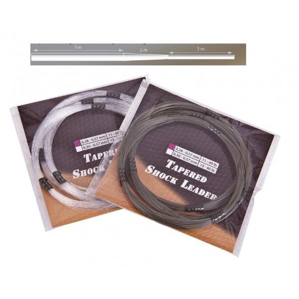 Šokový návazec Anaconda Camou / Fluoro Shock Leaders průměr: 0.30 mm. přírodní