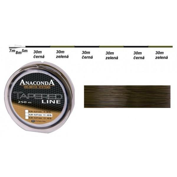 Vlasec Anaconda Tapered Line průměr: 0,30 mm