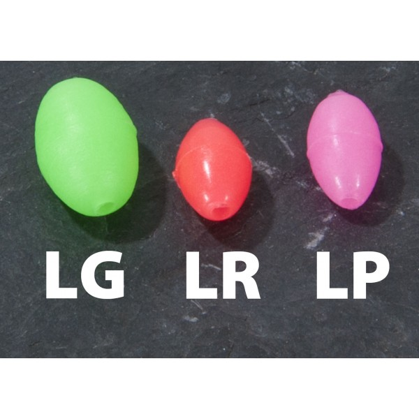 Oválky Aquantic  Glow Beads7 x 10mm Vzor LG