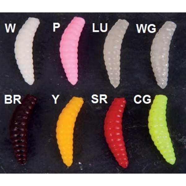 Gumové nástrahy Iron Trout Bee Maggots Vzor W