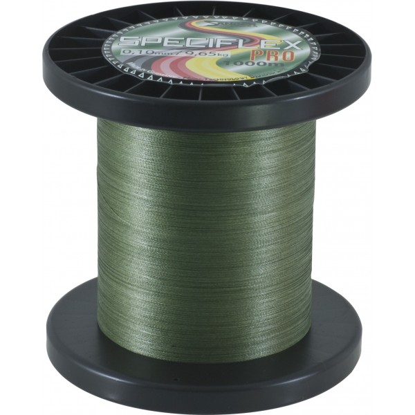 Pletená šňůra Saenger  Speciflex Pro, 1000m zelená průměr: 0,45 mm