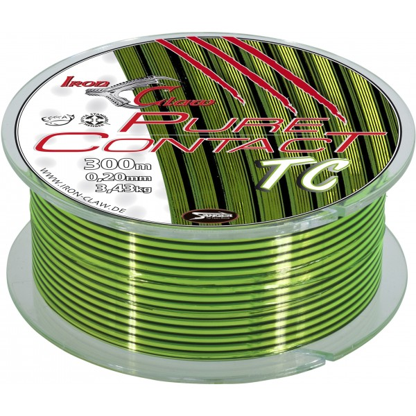 Vlasec Iron Claw Pure Contact Mono Line, 300m průměr: 0,18 mm