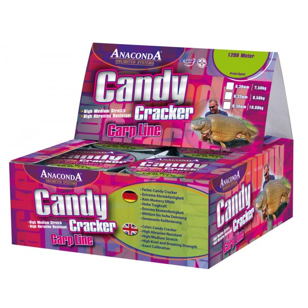 Vlasec Anaconda Candy Cracker. 1200 m průměr: 0.33 mm