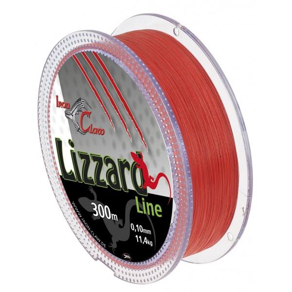 Pletená šňůra Iron Claw Lizzard. 300m. oranžová průměr: 0.07 mm