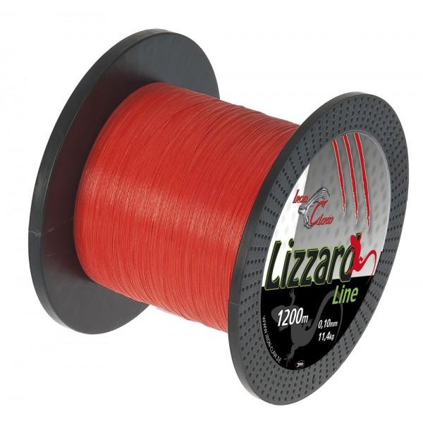 Pletená šňůra Iron Claw Lizzard. 1200m. oranžová průměr: 0.05 mm