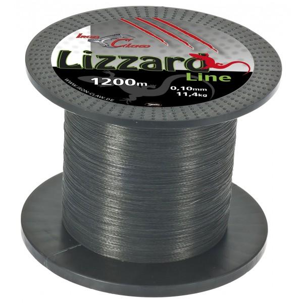 Pletená šňůra Iron Claw Lizzard. 1200m. šedá průměr: 0.06 mm
