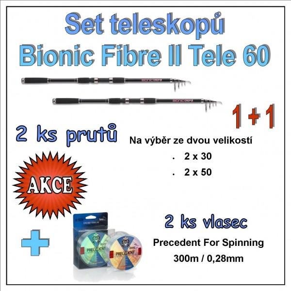 Set teleskopů Bionic Fibre II Tele 60 1 + 1 Varianta 3,30m