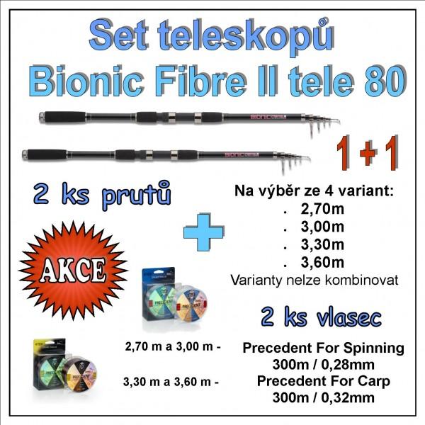 Set teleskopů Bionic Fibre II tele 80 1 + 1 Varianta 3,60m
