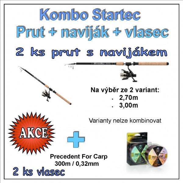 Saenger - Kombo Startec Prut + naviják + vlasec 1 + 1  Varianta 2,70m