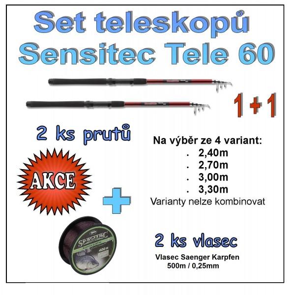 Set teleskopů Sensitec Tele 60 1 + 1 Varianta 3,30m