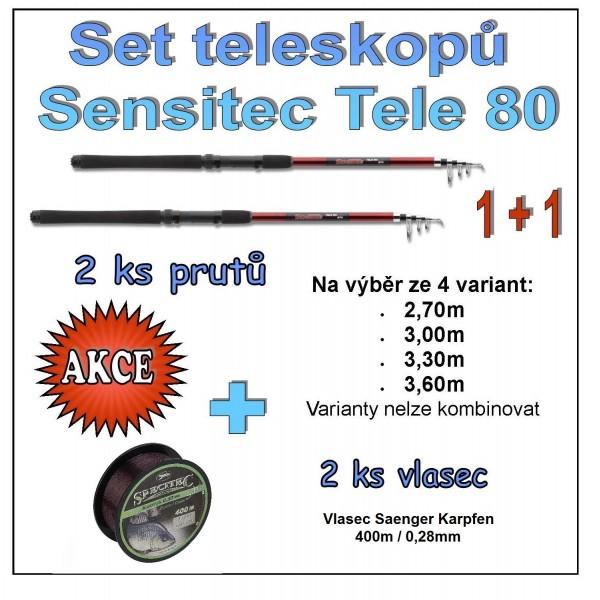 Set teleskopů Sensitec Tele 80 1 + 1 Varianta 2,70m