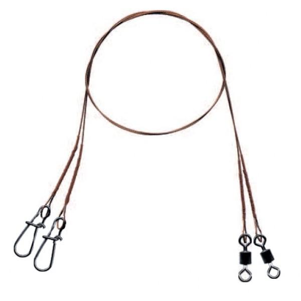 Mistrall ocelové lanko pro lov dravců 7 x 7  (15 kg) Velikost 20cm, 2ks/bal