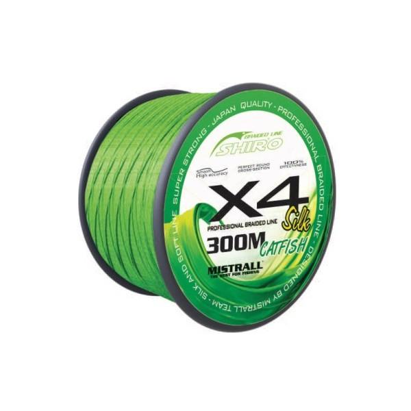 Mistrall pletená šňůra Green catfish 300m průměr: 0,40 mm