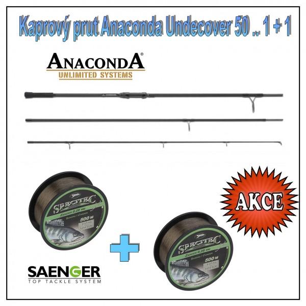 Kaprový prut Anaconda Undercover 50 .. 1 + 1