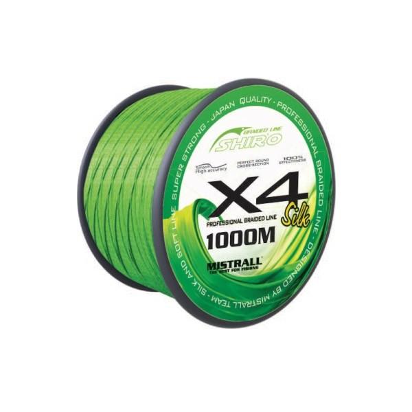 Mistrall šňůra Shiro Braided Line X4 1000m, průměr: 0,13 mm
