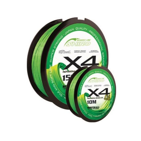 Mistrall šňůra Shiro Braided Line X4 10m, průměr: 0,08 mm