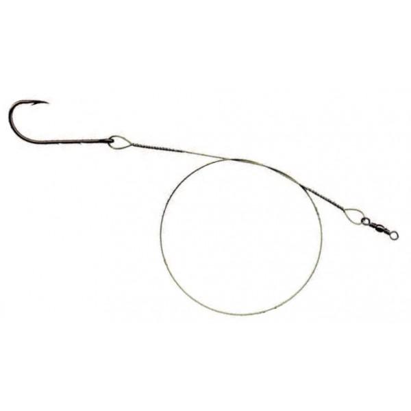 Mistrall ocelové lanko pro lov dravců 1 x 7 (7 kg) Green, Velikost 25cm, 2ks/bal